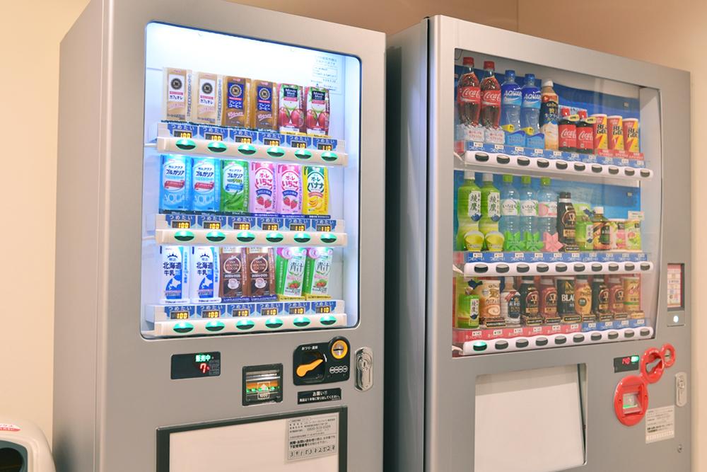 自販機が3種類あるので、その日の気分で選べます。