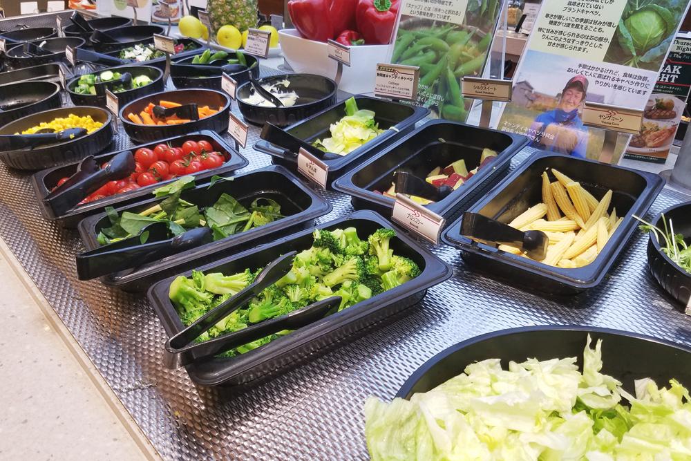 ズラリと並ぶ色とりどりの野菜たち